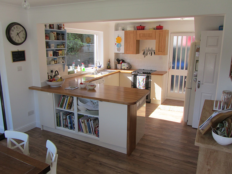 Below Is Another Kitchen And Dinning Room Knocked Into One With A New Fitted Flooring